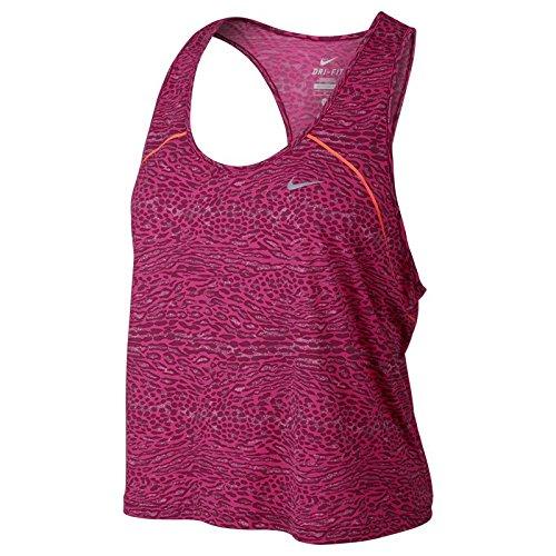 Nike Women's Dri-Fit Racing Running Tank Top-Magenta-Medium