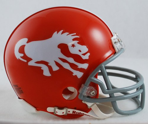 NFL Riddell Denver Broncos Throwback Mini Helmet (Mini Throwback Football Helmet)