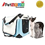 PET4FUN® PN950 Foldable Pet Puppy Dog Cat Carrier & Travel Crate w/ Premium 600D Oxford Cloth, Strong Steel Frame, Carry Bag, Locking Zippers, Washable Nap Pad, Airy Windows | 3 Size & 3 Colors For Sale