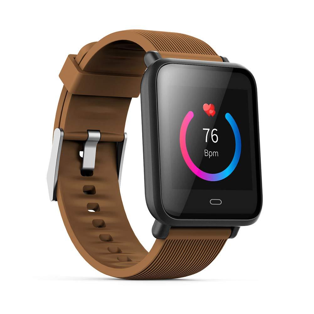 Marron  KLPI intelligent regarder Sport Bracelet de Fitness étanche pour Android iOS pulsmètre Pression Sanguine Fonction podomètre Moniteur de Sommeil