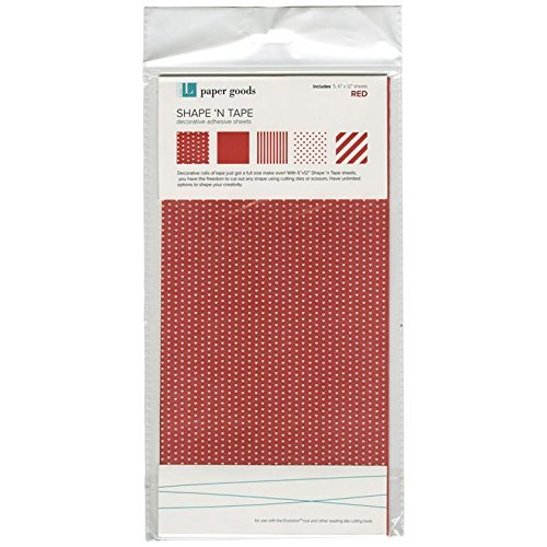 We R Memory Keepers Shape N' Tape Sheet, Red by - Shape Quickutz