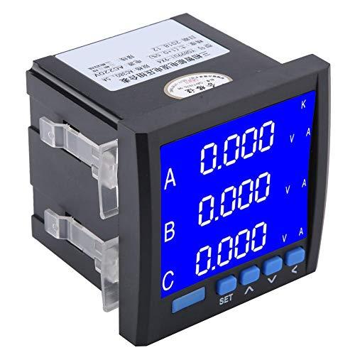 Volt Meter, Digital Three-phase Multi-Function Voltage Current Meter Voltmeter AC Ammeter Smart Programmable Amp Volt Instrument Substation, Electrical automation, Intelligent Building: Business, Industry & Science