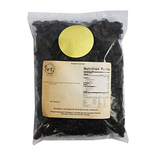 Dried Tart Pitted Cherries 3 LB Sweet & Sour Natural Cherry Fruit