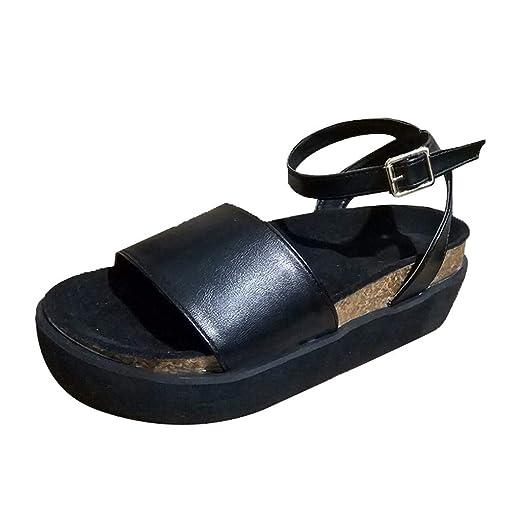 c13ed61b991bf Amazon.com: Pongfunsy Women's Sandals Fashion Platform Strappy ...
