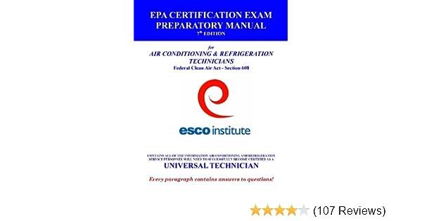 esco institute section 608 certification exam preparatory manual ...