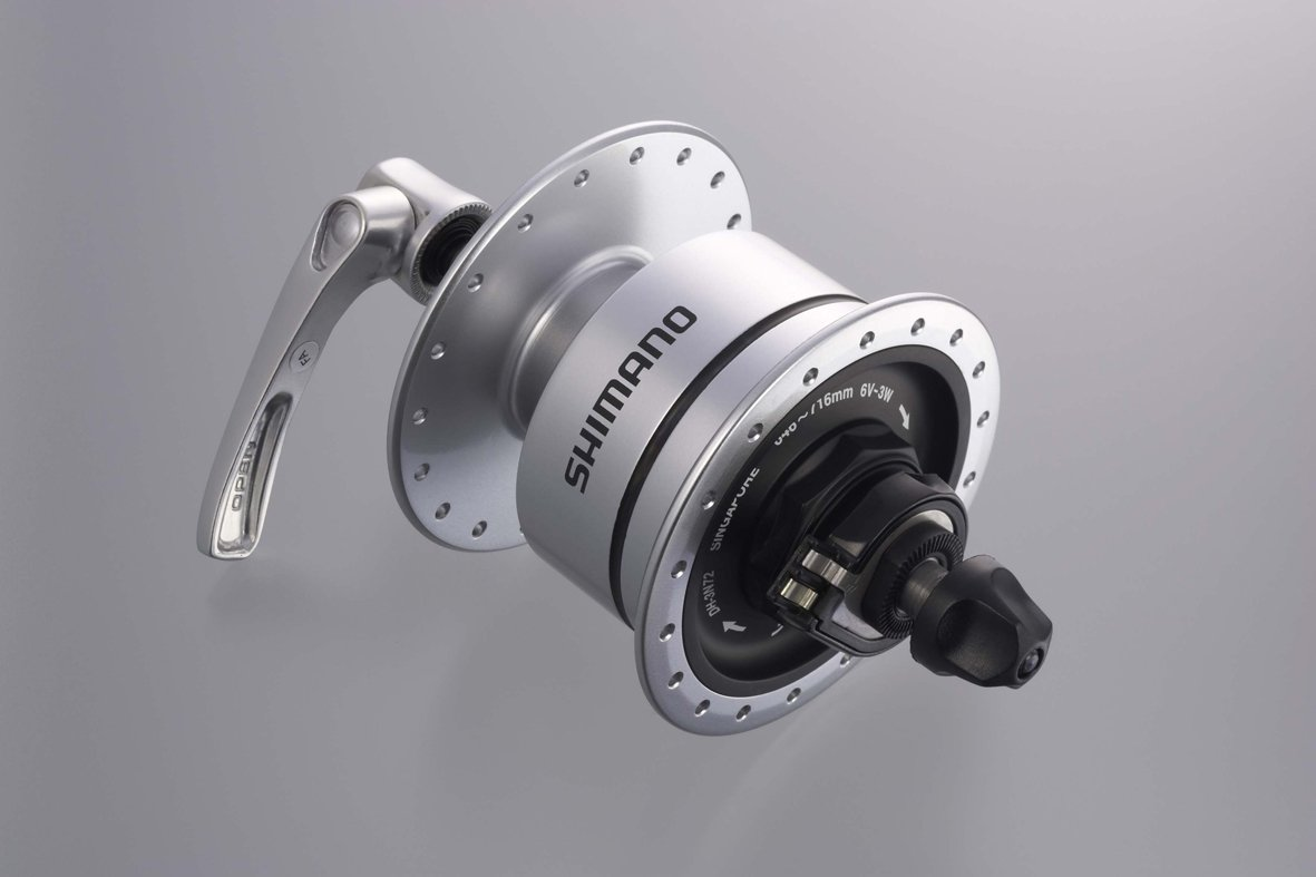 SHIMANO(シマノ) DH-3N72 E2 6V-3.0W QRタイプ OLD:100mm クリアー EDH3N72 QRタイプ:36H  B004AFMFMW