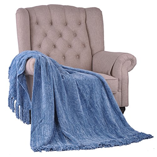 Home Soft Things BOON Crystal Chenille Throw, 50