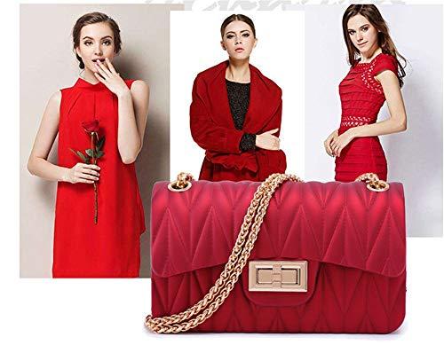 Mano Nera Tracolla Sexy Match Jelly Borse Borsa A Diagonale Glamour Fashion Black Donna Mix And Monospalla 0IA6n