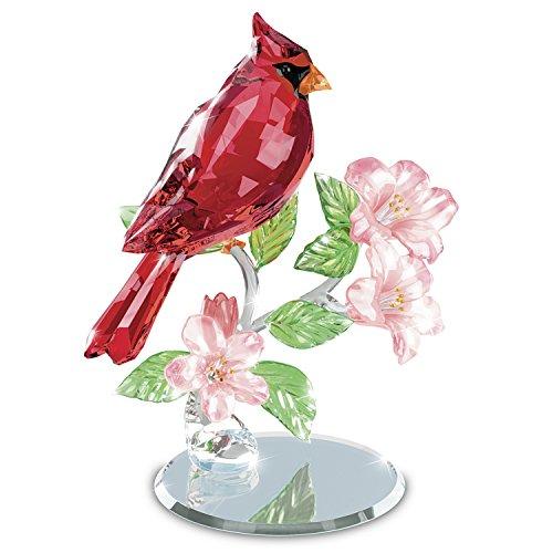 Bradford Exchange The Crimson King Crystal Cardinal Sculpture with Mirror Base (Cardinal Mirror)