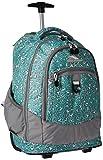 High Sierra Chaser Wheeled Laptop Backpack, Mint Leopard/Ash/White