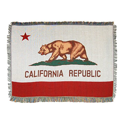 """The Northwest Company California State Flag Woven Tapestry Throw Blanket, 48"""" x 60"""", Multi Color"""