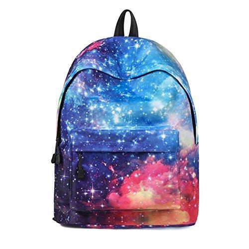 DCRYWRX Female Bag Star Student Bag Fashion Noctilucent School Bags for with Pen Bag