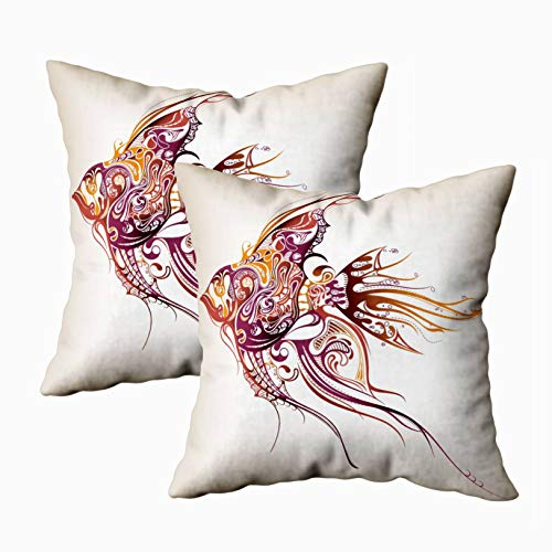 Musesh Mom Pillow Cover, Pack of 2 Sea Animal for Sofa Decorative Pillowcase 18X18Inch Pillow Covers