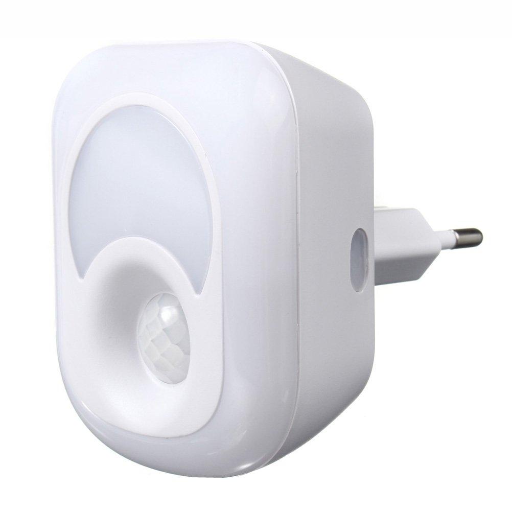 LEDMOMO Luz de sensor de movimiento, luz de noche de 220V LED, lámpara de movimiento de pasillo, baño, dormitorio, cocina, etc.