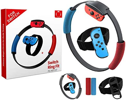 N/A Correa elástica ajustable para la pierna, banda deportiva con anillo de agarre para Nintendo Switch Joy-con Ring Fit Adventure Game: Amazon.es: Electrónica