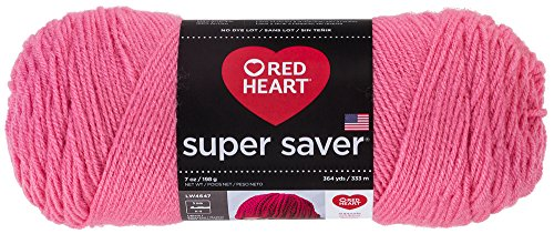 Red Heart Super Saver Acrylic Perfect Pink Yarn, 1 Each