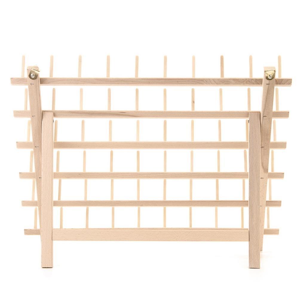Ljourney staffa 60rocchetti in legno piegato rack su misura bobina filo organizzatore portaoggetti supporto filo per cucire quilting ricamo e supporto per cucire Craft Tools