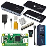 Raspberry Pi Zero W Basic Starter Kit-- Black Case Edition--Includes Pi Zero W -Power Supply & Premium Black Case