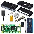 Vilros Raspberry Pi Zero W Basic Starter Kit- Black Case Edition-Includes Pi Zero W -Power Supply & Premium Black Case