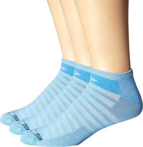 (Drymax Sport Unisex Hyper Thin Running No Show 3-Pack Big Sky Blue Socks SM (Women's Shoe 5-7))