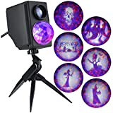 Gemmy 6 Fire and Ice Multi-Function Purple/Orange Led Multi-Design Halloween Outdoor Stake Light Projector