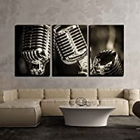 wall26 - 3 Piece Canvas Wall Art - Closeup of Chromed...