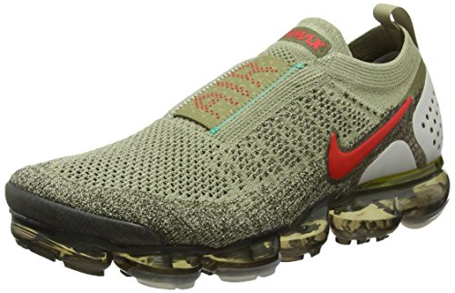 NIKE Men's Air Vapormax FK Moc 2, Neutral Olive/Habanero RED-Dark Hazel, 8.5 M US