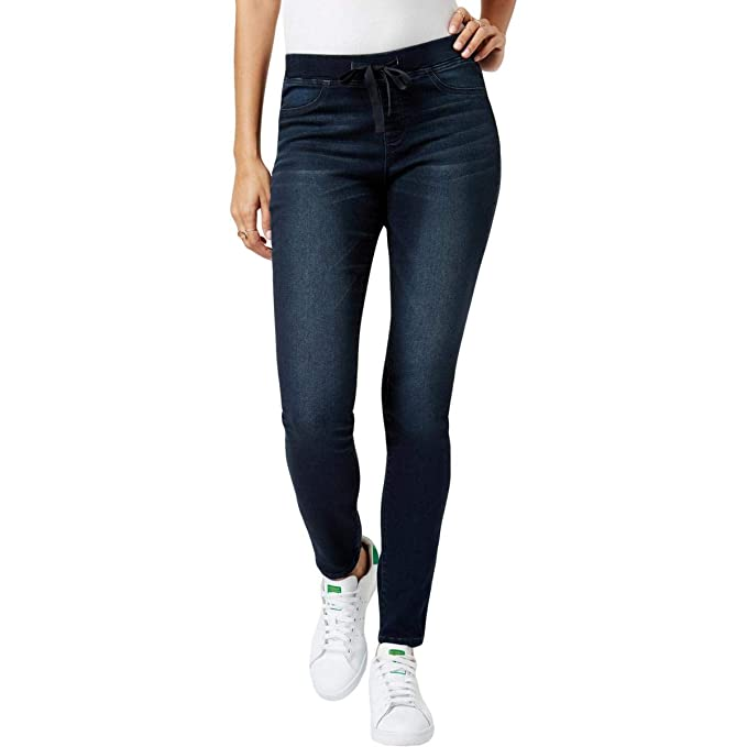 1db0d8e0b1d9e Image Unavailable. Image not available for. Color: Black Daisy Womens Shay  Dark Wash Low Rise Jeggings ...
