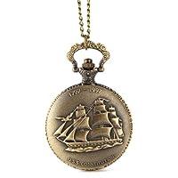 Alienwolf Pocket Watch Steampunk Pocket Watch with Cool Chain for Men Women (Ship)