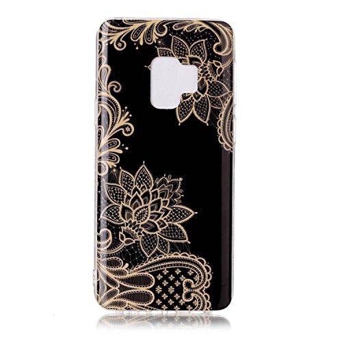 housse coque dans portable Slip marble léger Anti pattern rigide flower étui Galaxy de étui et inShang matériel gold le fait pour téléphone ultra Samsung coque mince S9 Mate9 TPU ATBwxq0Sn
