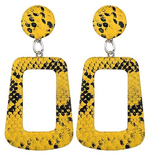 14k Serpentine Earrings - Serpentine Earrings Oversize Geometric Earrings For Women Punk Vintage Big Statement Earring,YW