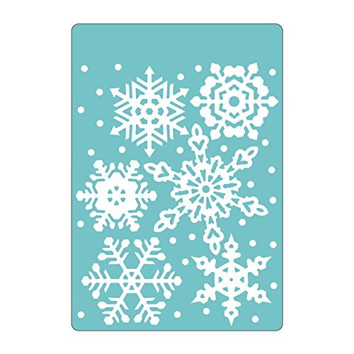 - Sizzix 661544 Textured Impressions Embossing Folder, Falling Snowflakes by Sharyn Sowell