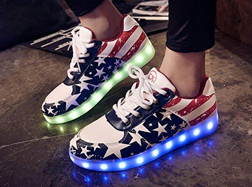 Sneakers Catkit LED Blue Unisex Luminous Women Up Light Charging Red Men USB Shoes vv7q0xnZ