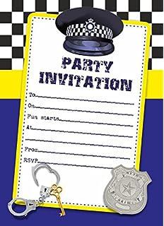 10 x detective secret agent children birthday party invitations 10 x police children birthday party invitations filmwisefo Image collections