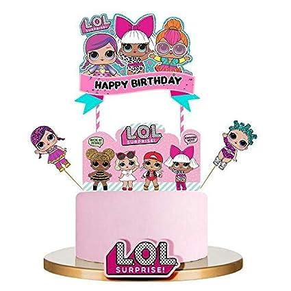 Bsstr LOL - Decoración para tarta de cumpleaños, color rosa ...