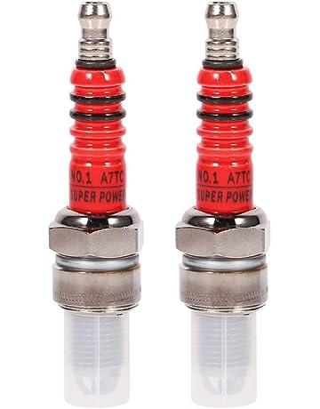 2 bujías Keeno para GY6, bujía de 3 electrodos de Alto Rendimiento para Scooter,