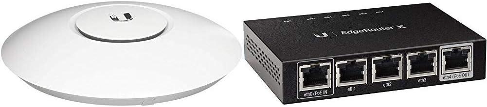 Ubiquiti Networks Ubiquiti Unifi Ap-AC Lite - Wireless Access Point - 802.11 B/A/G/n/AC (UAPACLITEUS), White Bundle Networks Networks Router (ER-X)