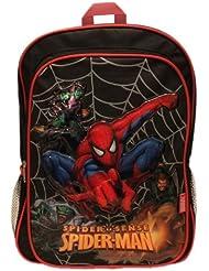 Spiderman Spider Sense Large Black Backpack