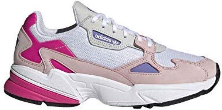 Adidas Falcon - Zapatillas para mujer, color blanco, talla 8: Amazon.es: Zapatos y complementos
