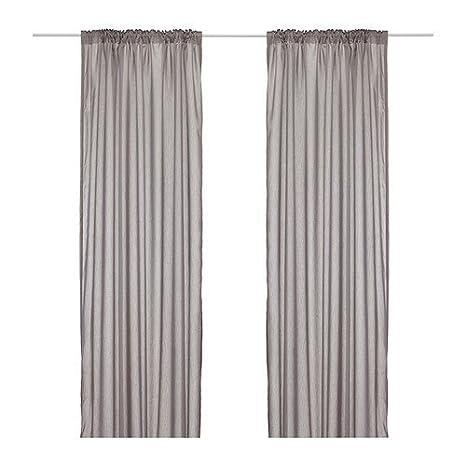 Ikea Vivan - Set di tende con passante, occhielli nascosti e bordo ...