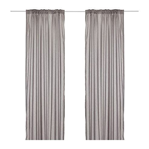 IKEA VIVAN Gardinenpaar in grau; (145x300cm): Amazon.de: Küche ...