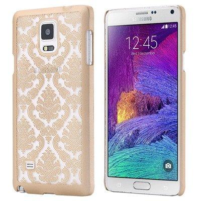 Caja del gel de TPU ultra cristalino fino suave claro para Samsung Galaxy Note N9100 4 IV Teléfono contraportada Bolsa Nota4 FLM oro