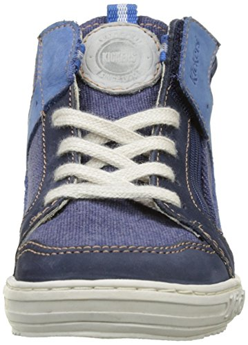Kickers Jargon, Zapatillas Altas para Niños azul (Marine)