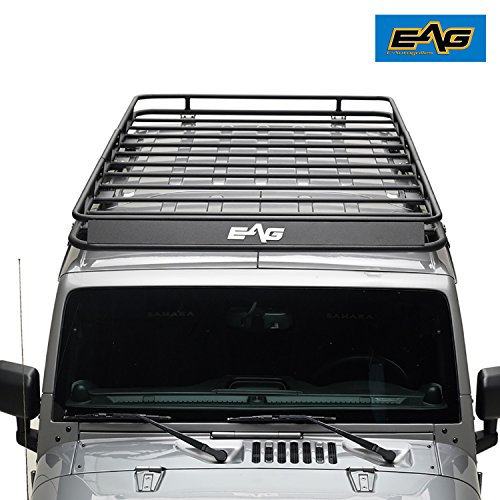 EAG 07-18 Jeep Wrangler JK 4 Door Full Length Roof Rack