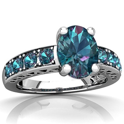 4.6CT Blue Topaz 925 Silver Jewelry Wedding Engagement Ring Size 7-10 (10)