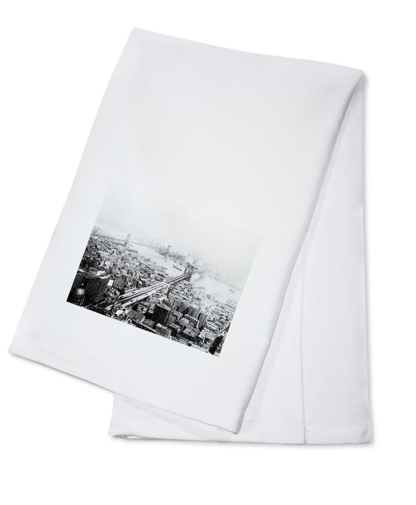 OKSLO Brooklyn & Manhattan Bridges NYC Photo (100% Cotton Kitchen Towel)