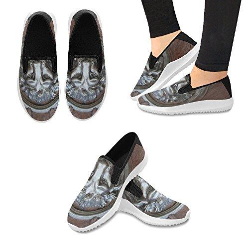 Jeans Con Impronta Digitale Slip On Canvas Sneakers Per Donna Lion Iron Lock
