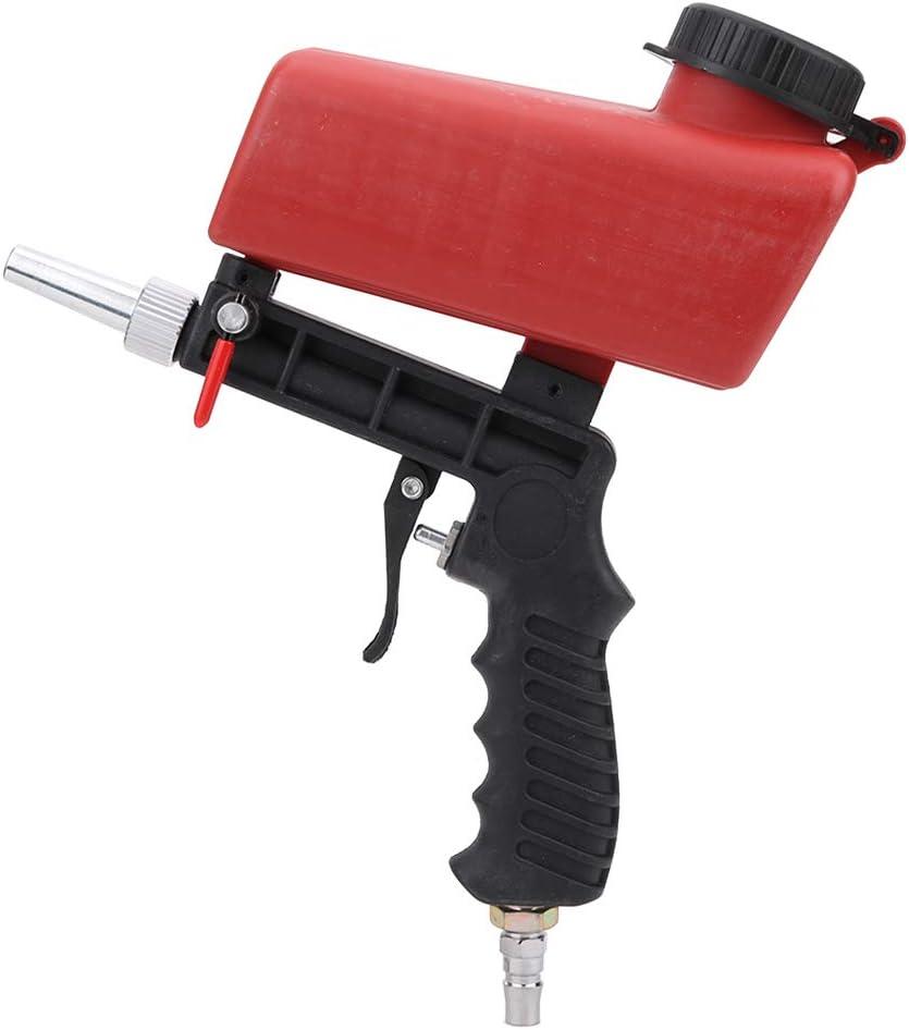 Chorro de arena Kit de pistola de chorro de arena, Pistola de mano Air Sand Blaster 90PSI, Herramienta de granallado para fabricación, mantenimiento de automóviles, equipos mecánicos