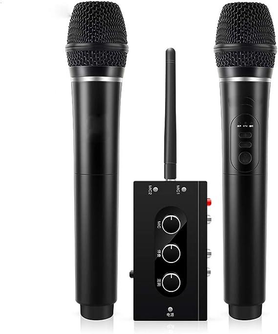 LIUGUANJIANG National K - Juego de Tarjetas de Sonido Personalizadas para televisor Smart TV, micrófono inalámbrico Familiar KTV, uno para Dos micrófonos, Universal para TV: Amazon.es: Electrónica