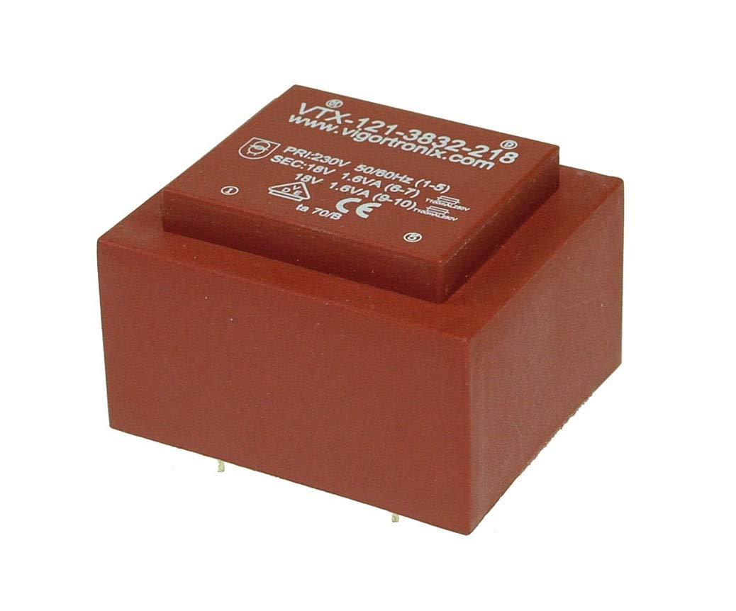 Transformador de corriente encapsulado de 3,2 VA PCB 0-230 V 2 x 24 V